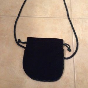 Handbags - Deep green velvety material pouch purse